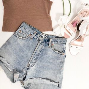 Re/Done Levi's Distressed Shorts